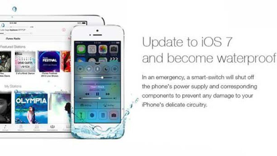 Update to iOS 7 and become waterproof